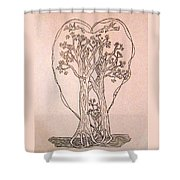 The Love And Celebration Of The Maple Tree Family Shower Curtain