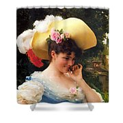 The Love Letter Detail Shower Curtain