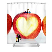 The Lovers In Valentine's Day Little People On Food Shower Curtain