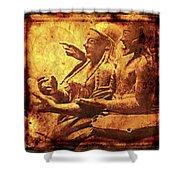 The Loving Etruscan Couple Vanished Civilisations Shower Curtain