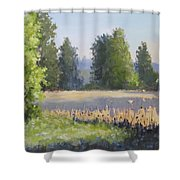 The Lower Field Shower Curtain