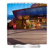 The Lowry Complex At Dusk, Salford Shower Curtain