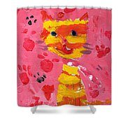 The Lucky Cat Shower Curtain