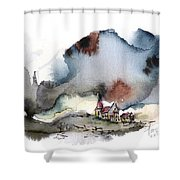 The Lull Before The Storm Shower Curtain
