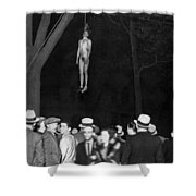 The Lynching Of A Murderer Shower Curtain