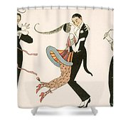 The Madness Of The Day Shower Curtain by Georges Barbier