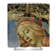The Madonna Of The Magnificat Shower Curtain by Sandro Botticelli