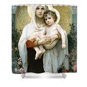 The Madonna Of The Roses Shower Curtain