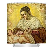 The Madonna Of The Stars Shower Curtain
