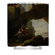 The Magdalen In A Cave Shower Curtain