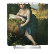 The Magdalene, C.1518-19 Oil On Canvas Shower Curtain
