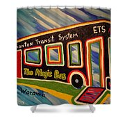 The Magic Bus Shower Curtain
