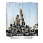The Magic Kingdom Castle On A Beautiful Summer Day Shower Curtain