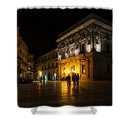 The Magical Duomo Square In Ortygia Syracuse Sicily Shower Curtain