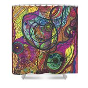 The Magnificence Of God Shower Curtain by Daina White