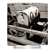 The Mailbox And The Wagon Shower Curtain
