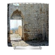 The Main Door To St.george Ruins Shower Curtain