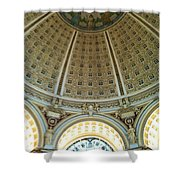 The Main Reading Room Library Of Congress Shower Curtain
