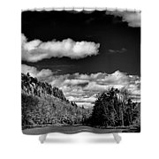 The Majestic Bald Mountain Pond  Shower Curtain