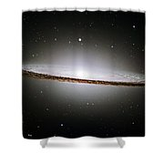 The Majestic Sombrero Galaxy Shower Curtain