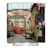 The Majestic Theater Chinatown Singapore Shower Curtain
