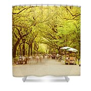The Mall In Central Park New York City Fall Foliage Shower Curtain