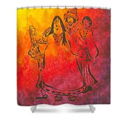 The Mamas And Papas Shower Curtain by Pamela Allegretto