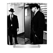 The Man In The Mirror 2 Shower Curtain by Sarah Loft