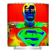 The Man Of Steel Shower Curtain
