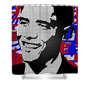 The Man Who Killed Osama  Shower Curtain by Robert Margetts