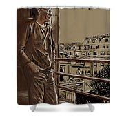 The Man Who Loved Paris Shower Curtain