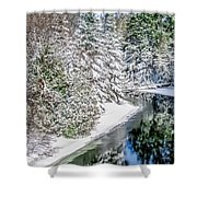 The Manistee River  Shower Curtain