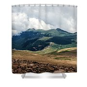 The Manitou And Pikes Peak Railway Cog Descends Shower Curtain