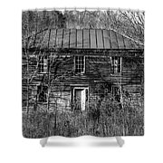 The Mansion Bw Shower Curtain