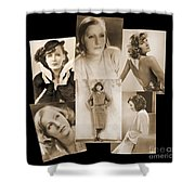 The Many Faces Of Greta Garbo Shower Curtain