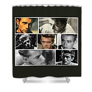 James Dean The Many Faces Shower Curtain