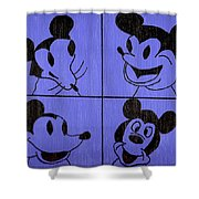 The Many Faces Of Mickey Shower Curtain