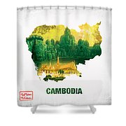 The Map Of Cambodia 2 Shower Curtain