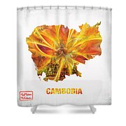 The Map Of Cambodia Shower Curtain