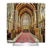 The Marble Church Interior Shower Curtain