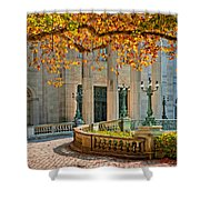 The Marble House In Autumn Shower Curtain