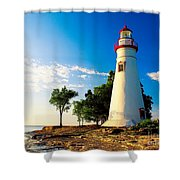 The Marblehead Light Shower Curtain