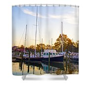 The Marina At St Michael's Maryland Shower Curtain by Bill Cannon