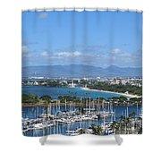 The Marina At Waikiki Shower Curtain