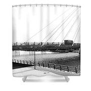 The Marine Road Bridge Southport 2 Shower Curtain