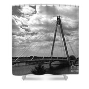 The Marine Road Bridge Southport Shower Curtain
