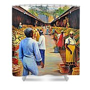 The Market Place Shower Curtain
