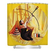 The Markswoman Shower Curtain by Shelley Irish