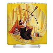 The Markswoman Shower Curtain by Shelley Irish