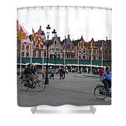 The Markt Bruges Belgium Shower Curtain